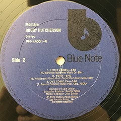 BOBBY HUTCHERSON:MONTARA(LABEL SIDE-B)