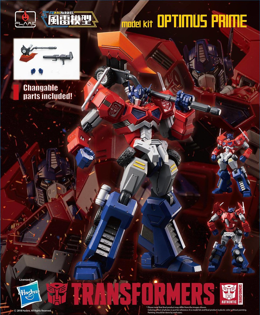 Flame Toys Fural Model 系列 變形金剛【柯博文(攻擊模式)】Optimus Prime (Attack Mode) Model Kit 組裝模型