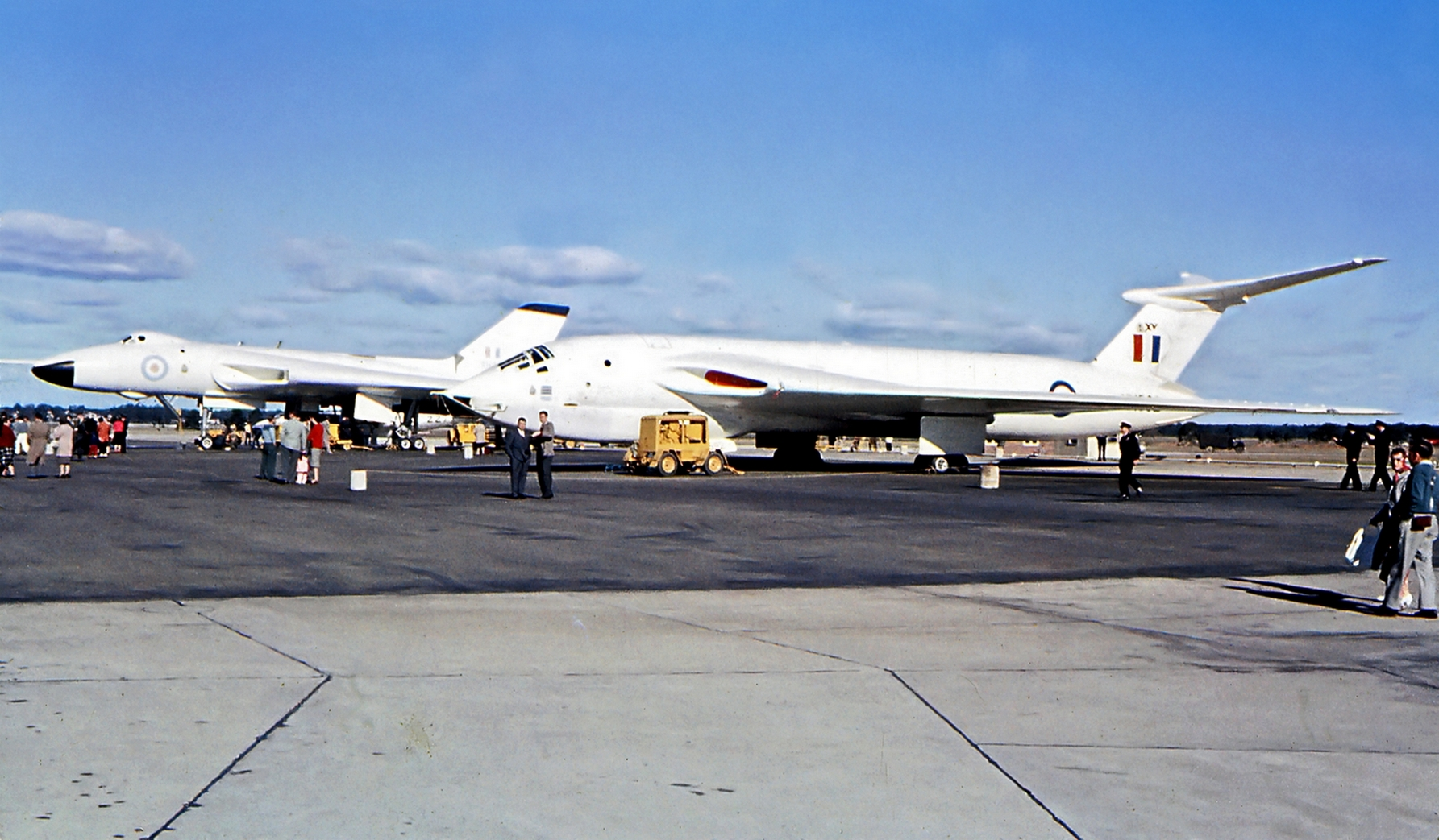 Avro Vulcan and Handley Page Victor bombers at Richmond, New South Wales, air show.