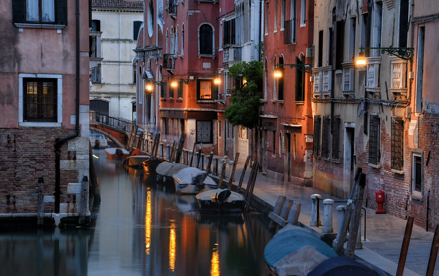 Canal Boats of Venice