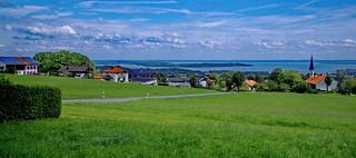 Bavaria, Lake Chiemsee Panorama
