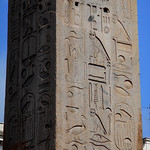 Obelisk of Lateran in Rome (15th century BC): erected by Tutmes III and Tutmes IV nearby the Ammon's temple at Tebe / Uaset in Egypt; tranfered in Rome year 357 AD by emperor Constantius II; here erected year 1587 by Domenico Fontana - https://www.flickr.com/people/70125105@N06/