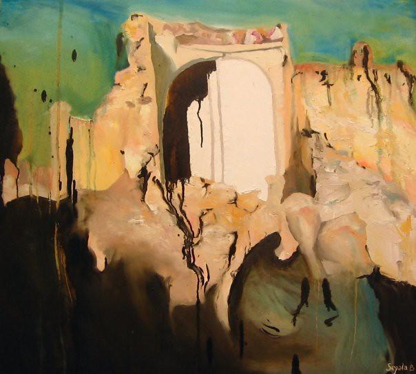 La porte - 73x81 cm. Oil on canvas 2006