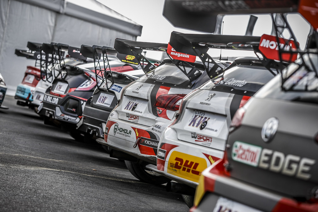 All the cars lining-up in the Parc Fermé during the 2018 FIA WTCR World Touring Car cup of Nurburgring, Nordschleife, Germany from May 10 to 12 - Photo Florent Gooden / DPPI