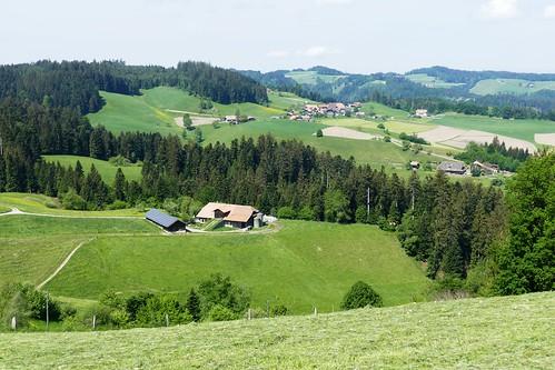 Aussicht bei Aspi Lützelflüh Richtung Vorderschwendi (Walkringen)