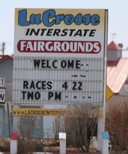 4.22.18 La Crosse Fairgrounds Speedway - Sign