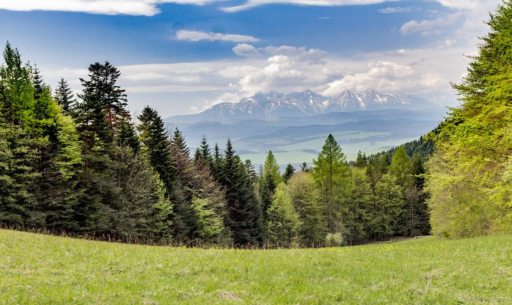 Widok na Tatry Słowackie - Pieniny - Poland