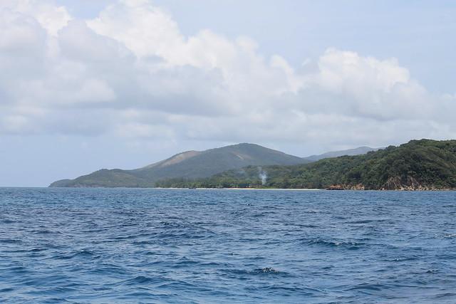 Sailing Away from Guanaja