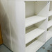 Tall white laminate open front bookshelf adjustable E125