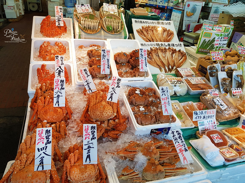 nijo market hairy crabs
