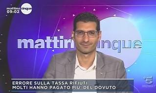 Il parlamentare polignanese Giuseppe L'Abbate a Canale 5