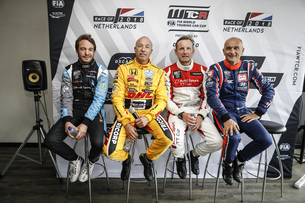 VERVISCH Frederic, (bel), Audi RS3 LMS TCR team Comtoyou Racing, portrait CORONEL Tom, (nld), Honda Civic TCR team Boutsen Ginion Racing, portrait VAN ORANJE Bernhard (ned), Audi RS3 LMS, Bas Koeten Racing, portrait TARQUINI Gabriele, (ita), Hyundai i30 N TCR team BRC Racing, portrait during the 2018 FIA WTCR World Touring Car cup of Zandvoort, Netherlands from May 19 to 21 - Photo Francois Flamand / DPPI