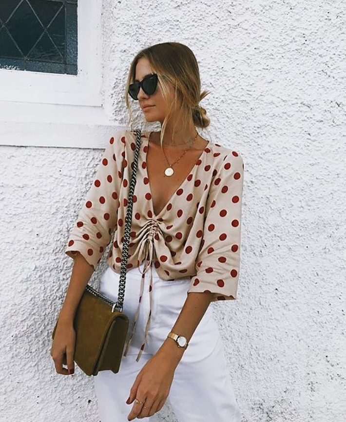 Polka dots trend Outfit Ideas for Spring 2018 style fashion tendencias primavera3