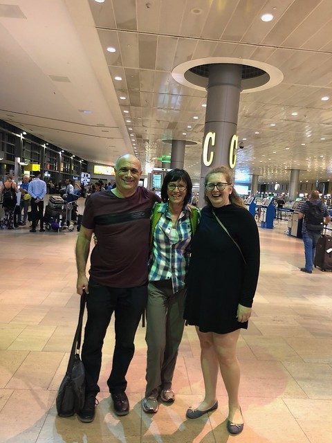 Danny and Yehudit came to see me at the airport before my departure.