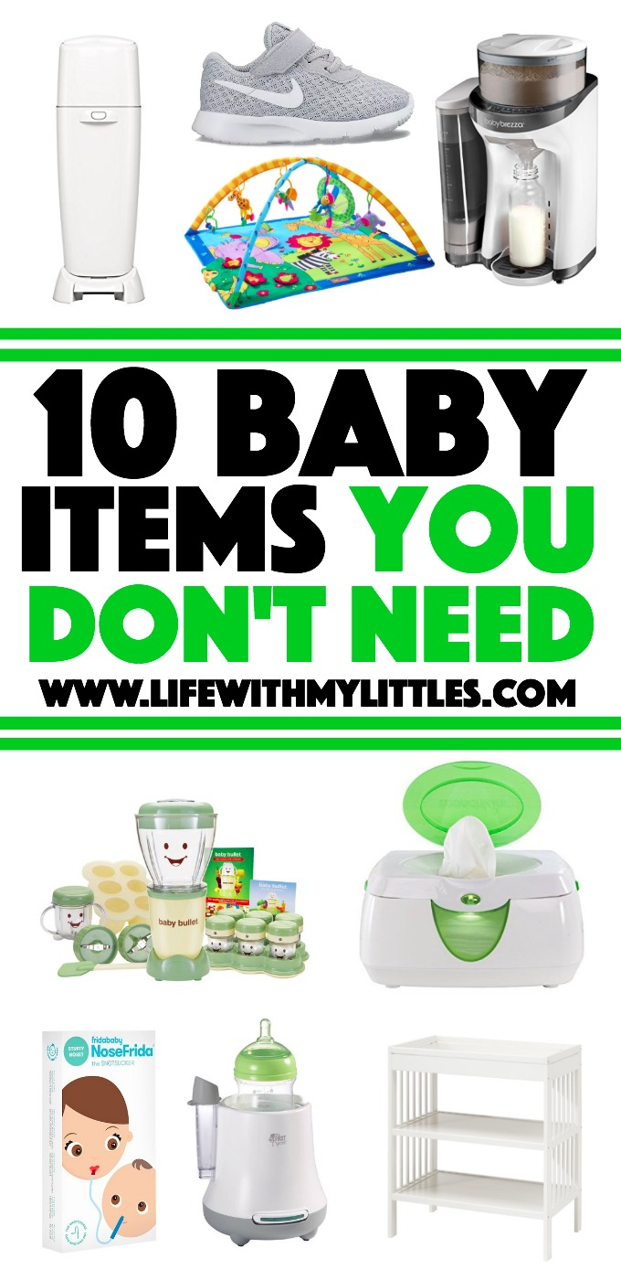 Overwhelmed by all those baby must-have lists? Here's a great list of 10 baby items you don't need! You might be surprised by a few!