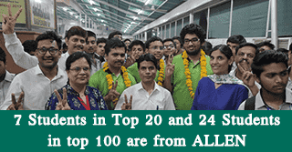 JEE Main Toppers Allen Kota Institute