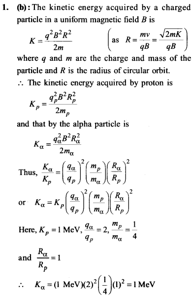 NEET AIPMT Physics Chapter Wise Solutions - Moving Charges and Magnetism explanation 1