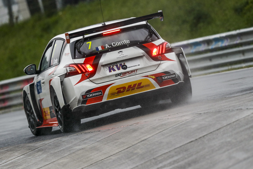07 COMTE Aurelien (FRA), DG Sport Competition, PEUGEOT 308TCR, action during the 2018 FIA WTCR World Touring Car cup of Nurburgring, Germany from May 10 to 12 - Photo Florent Gooden / DPPI