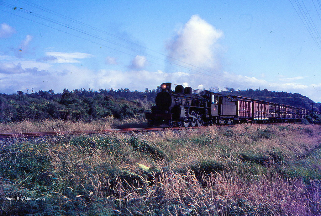 Northbound Hokitika to Greymouth freight 1966