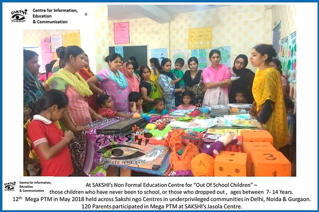 Mega PTM organized by Sakshi NGO Centres in underprivileged