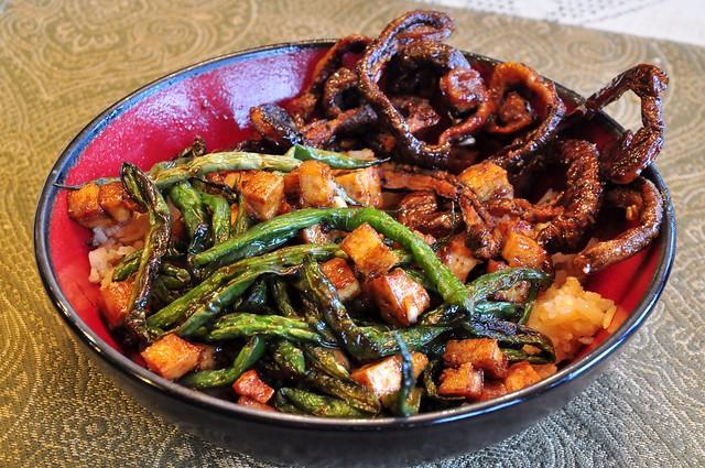Stir-fry with Shiitake Eels