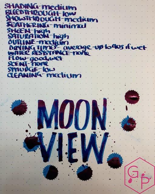 Krishna Inks Moonview Fountain Pen Ink Review @PenChalet 11