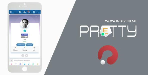 Pretty-Theme for WoWonder Social PHP Script v2.0.3