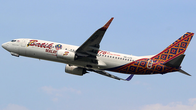Malindo Boeing 737-8GP 9M-LCK (painted Lion Group 178th Boeing 737-800)