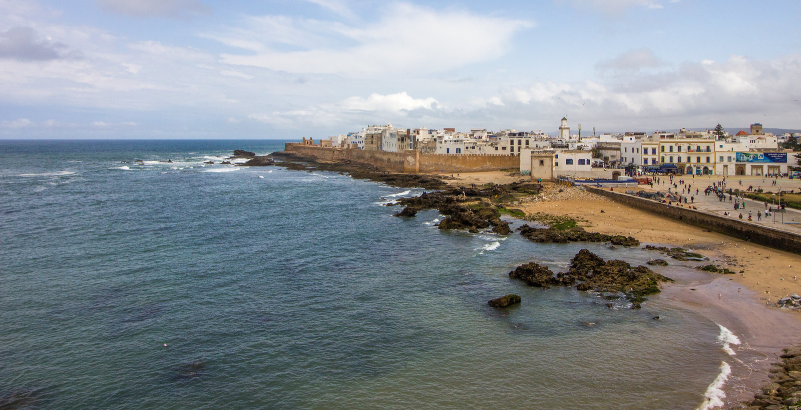 View over Essaouira from the ramparts