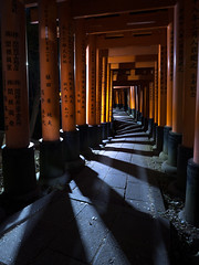 Waiting at a Curve - Fushimi Inari Shrine