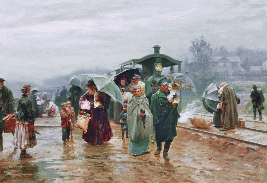 Касаткин Николай Алексеевич - Трамвай пришел. 1894