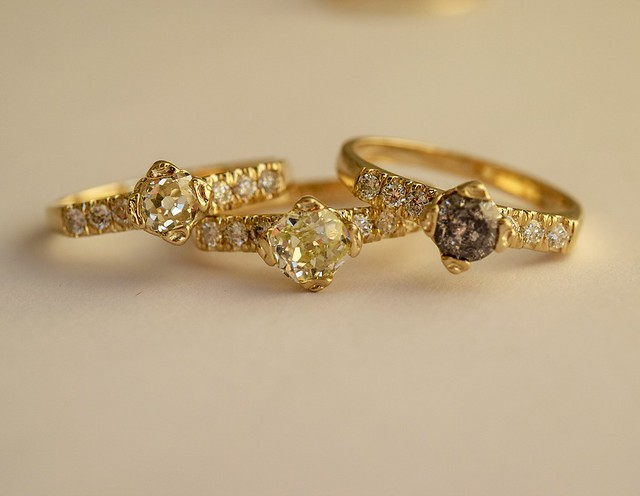 Antique Diamond Rings by Margaret Cross