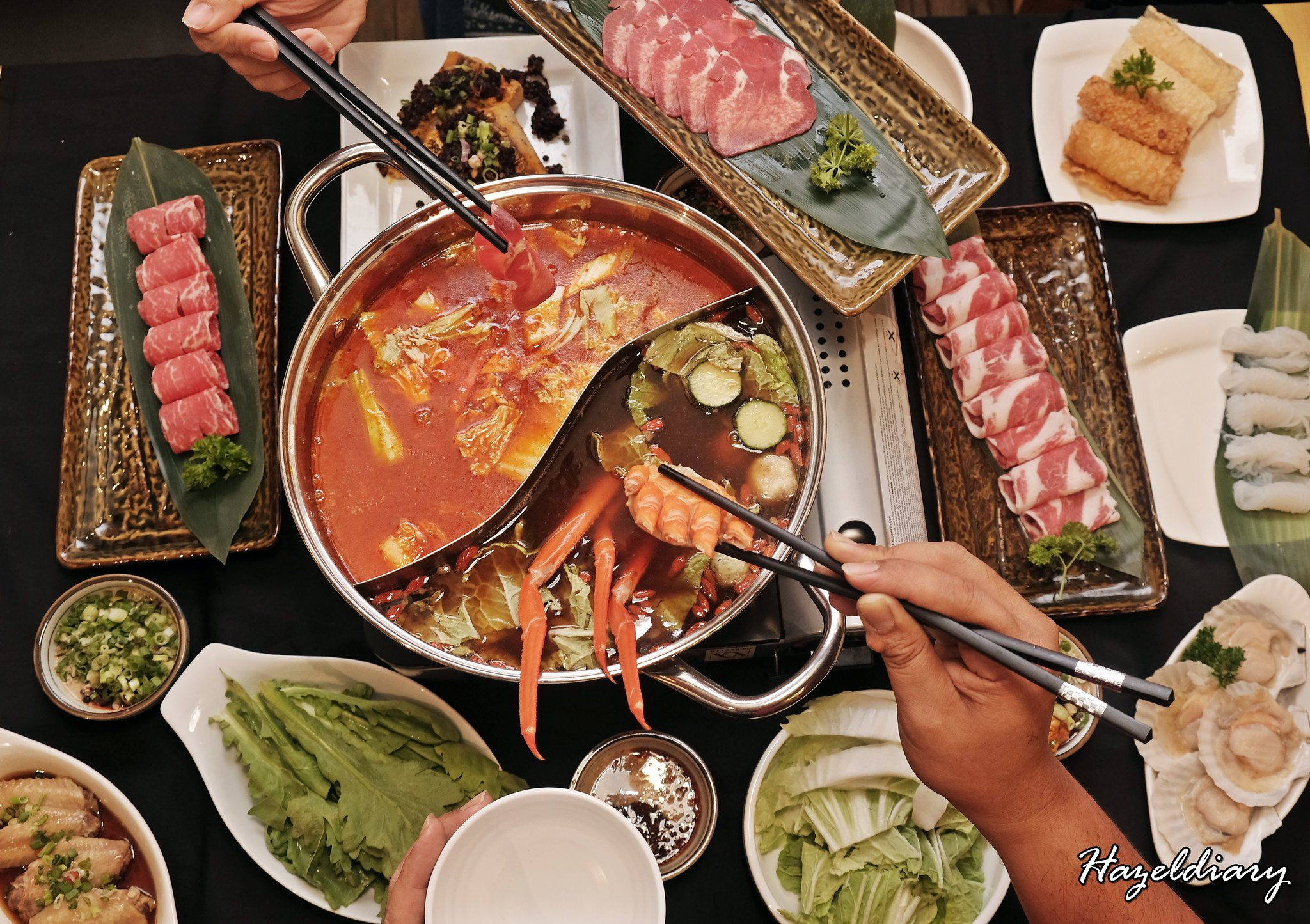 [SG EATS] Ding Xian Hotpot- First-Ever Hotpot Restaurant To Offer Japanese Spicy Miso Soup and Traditional Sichuan Mala Soup Under One Roof