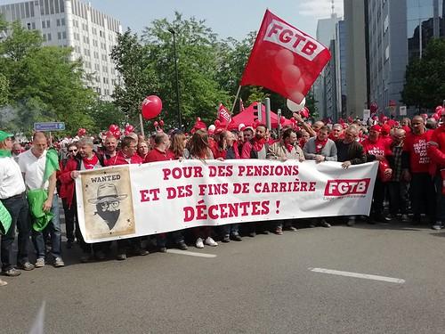 Manifestation pour nos pensions - 16 mai
