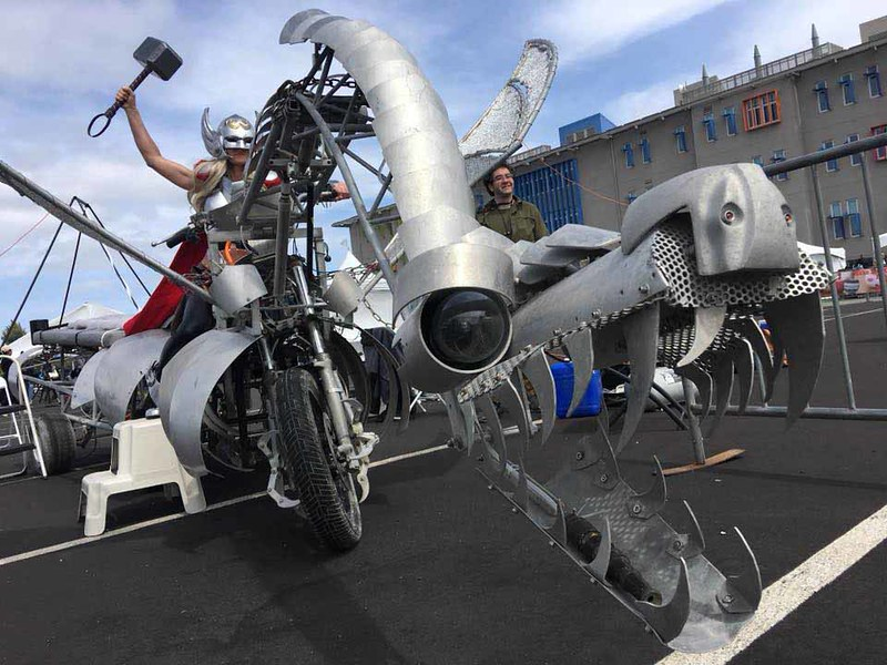 Thor on Dragon Bike