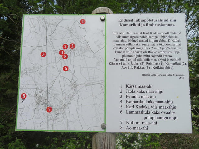 Lubjapõletusahjud Kamarikul / Lime kilns in Kamariku, Estonia