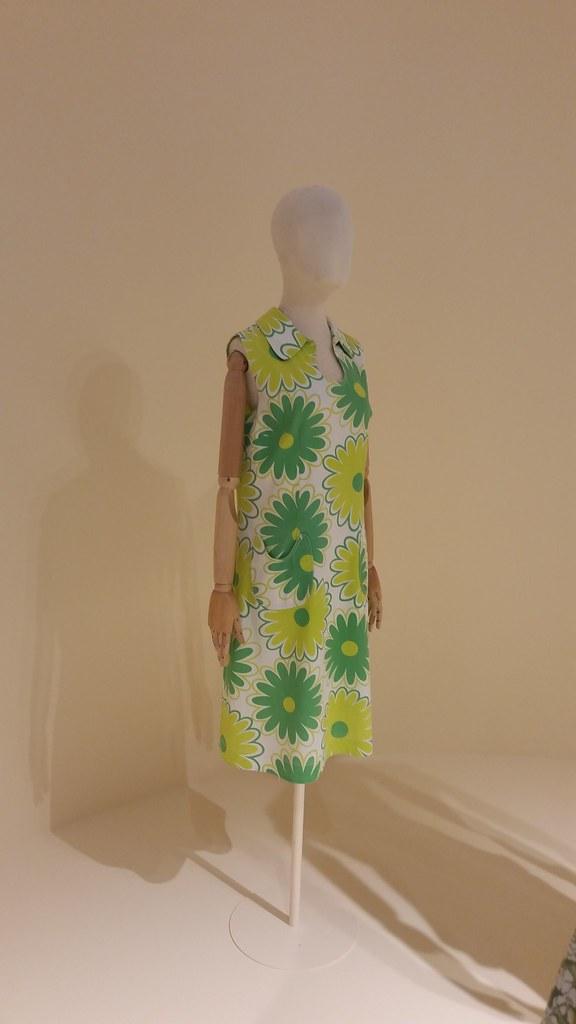 Дневное платье из хлопка-пике. Венгрия, 1970-е гг. Из гардероба балерины Ф.П. Кузнецовой.