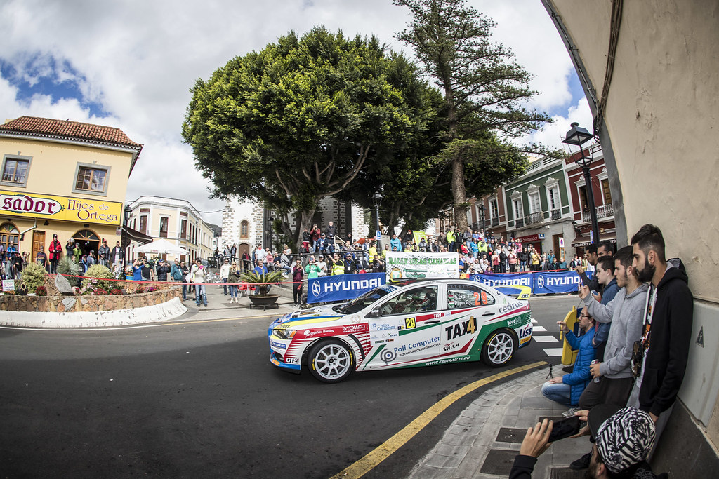 29 ERDI jr  TIBOR, PAPP Gyorgy, MITSUBISHI LANCER EVO X, action during the 2018 European Rally Championship ERC Rally Islas Canarias, El Corte Inglés,  from May 3 to 5, at Las Palmas, Spain - Photo Gregory Lenormand / DPPI