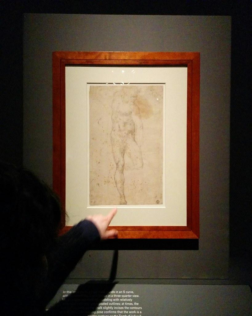 Study of a Standing Male Nude (Slave For the Tomb of Pope Julius III) #newyorkcity #newyork #metmuseum #metmichaelangelo #michaelangelo #drawing #latergram