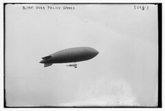 Blimp over police games (LOC)