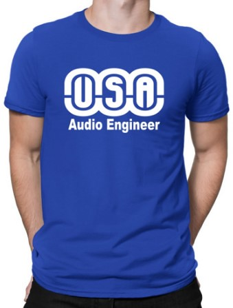 usa-audio-engineer-tshirt | USA AUDIO ENGINEER MEN T-SHIRT w