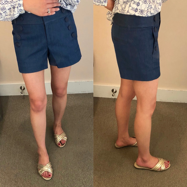 LOFT Denim Riviera Sailor Shorts, size 24/00 regular
