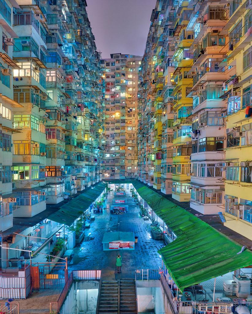 Government Apartments: Beautiful Hong Kong Government Housing At Night