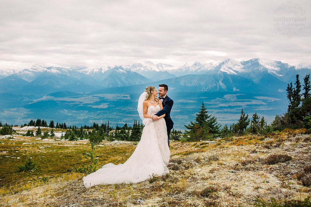 Helicopter Wedding Photographer Valemount British Columbia Mountain Elopement