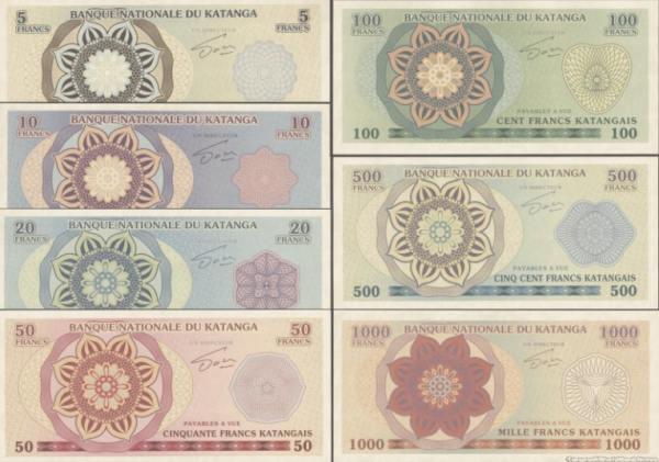 KATANGA 5-1.000 Francs 2013