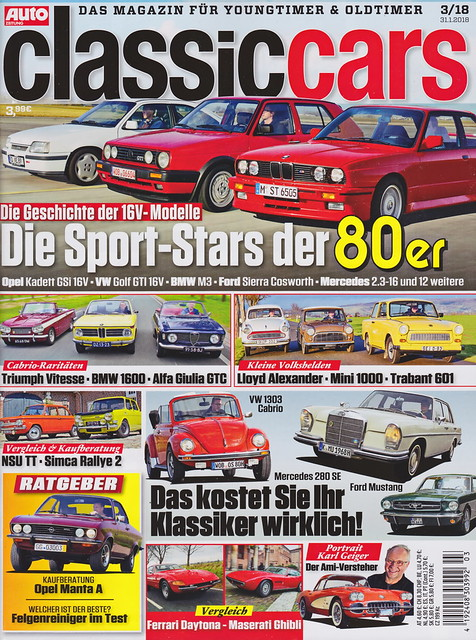 Auto Zeitung - Classic Cars 3/2018
