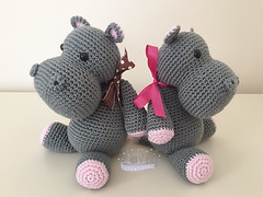 Hippos with Ribbons