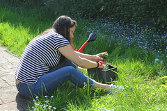 Canon EOS 60D - My Lovely wife Lisa tending to the garden
