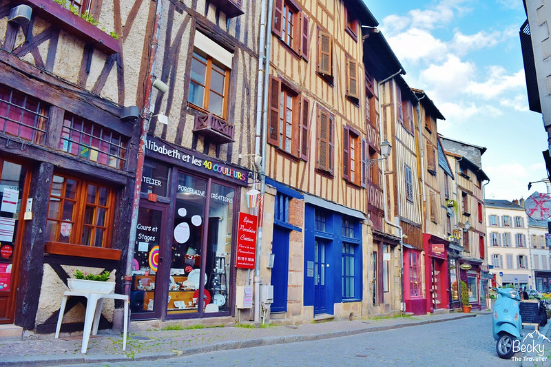 Limoges - France - exploring the street of Limoges
