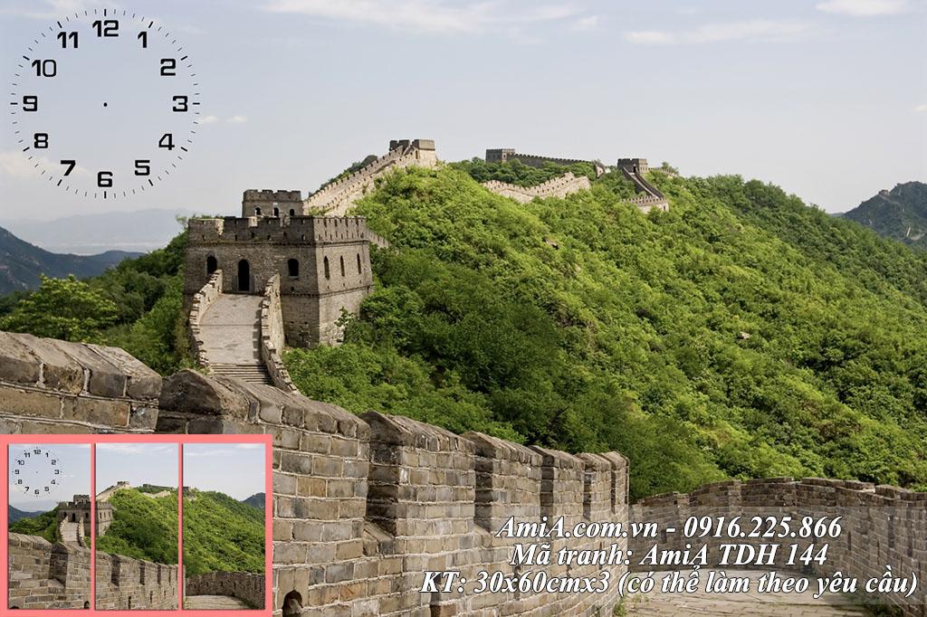 Tranh phong cảnh đẹp Trung quốc nổi tiếng thế giới Vạn Lý Trường Thành